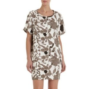 DVF Brenda Multi Black Brown White Casual Dress